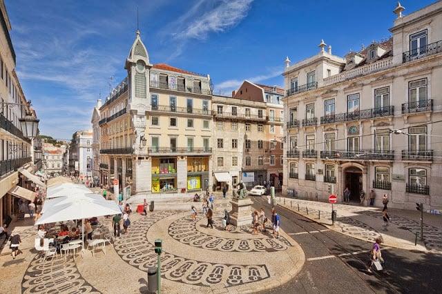 Bairro Chiado em Lisboa