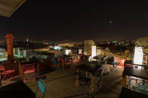 Vista de um restaurante em Lisboa