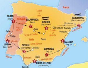 Roteiro de viagem por Portugal e Espanha de carro