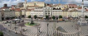 Vista da Praça do Rossio em Lisboa