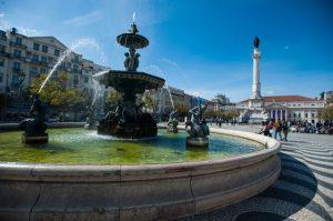 Fonte da Praça do Rossio em Lisboa