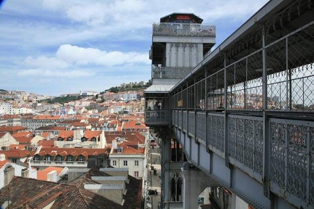 Visita ao Elevador Santa Justa em Lisboa