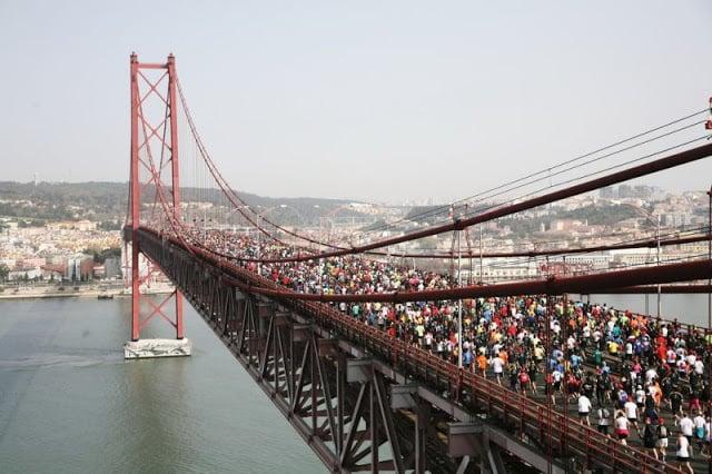 Meia Maratona de Lisboa na Ponte 25 de Abril