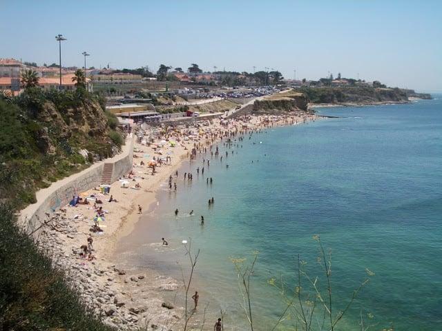 Praia de São Pedro do Estoril em Portugal