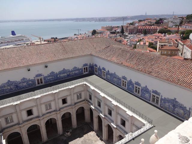 Vistas do terraço do Mosteiro de São Vicente de Fora