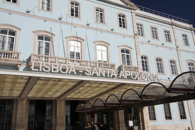 Estação de Santa Apolónia em Lisboa