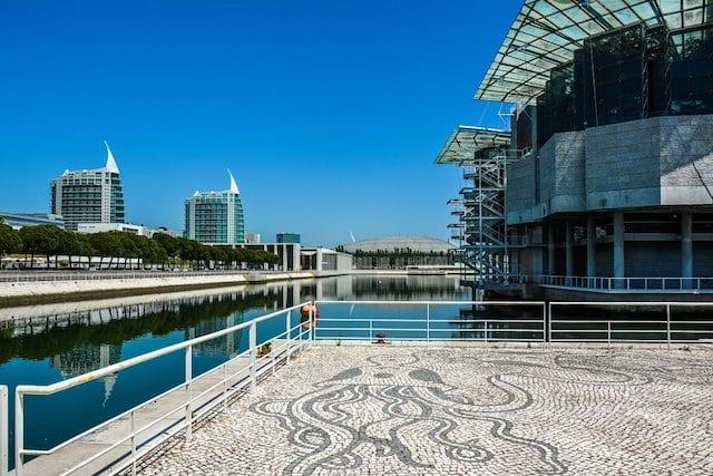 Oceanário no Parque das Nações em Lisboa