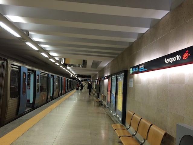 Metrô no Aeroporto de Lisboa