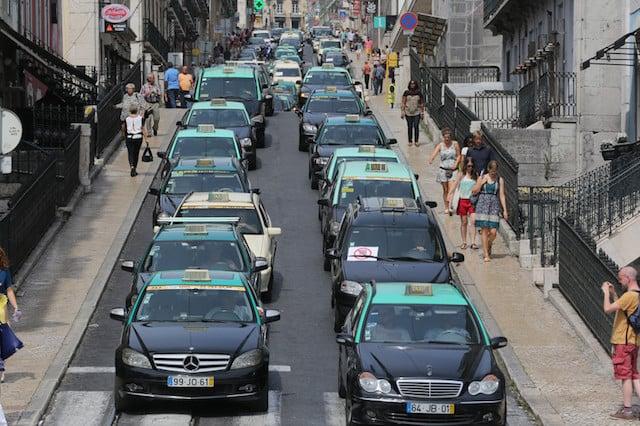 Táxi em Lisboa