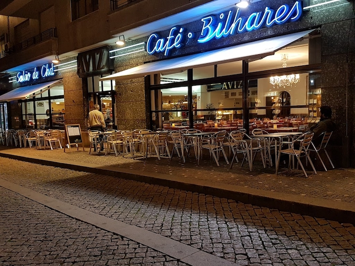 Café Aviz no Porto