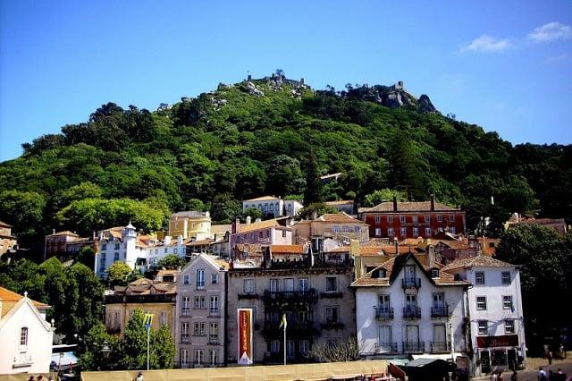 Vista de Lisboa com o por-do-Sol