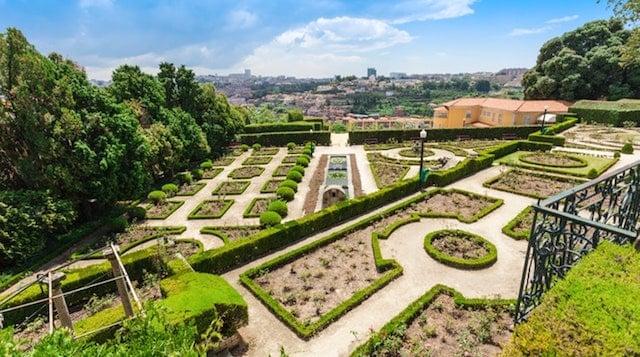 Jardim do Palácio de Cristal no Porto