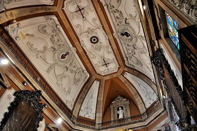 Teto da Igreja de Santo Ildefonso no Porto