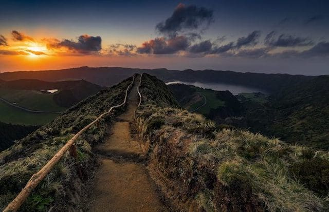 Mirante Vista do Rei da Caldeira das Sete Cidades nos Açores