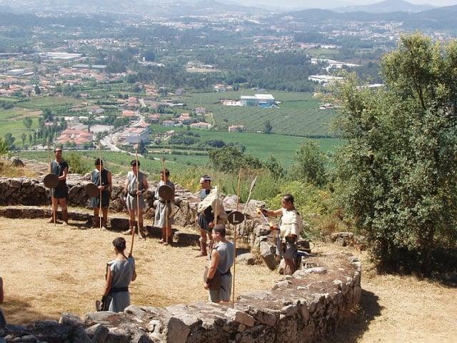 Apresentação na Citânia de Briteiros em Guimarães