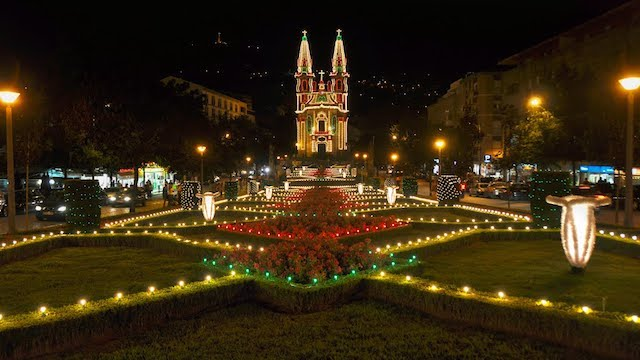 Iluminação da Igreja Nossa Senhora da Consolação em Guimarães