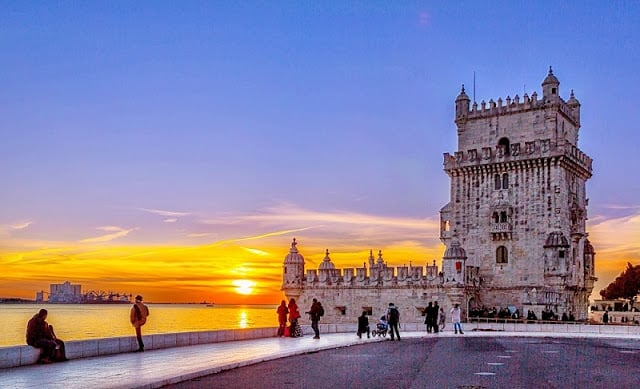 Pôr do Sol na Torre de Belém