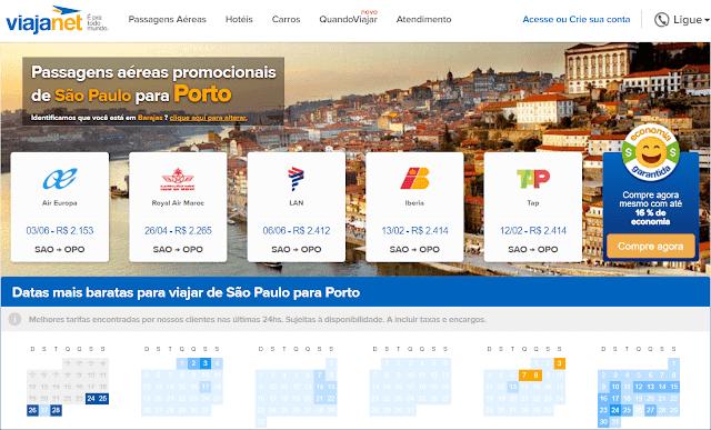 Passagem aérea para o Porto