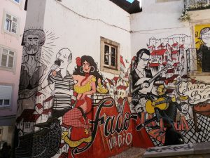 Grafiti sobre o fado em Lisboa