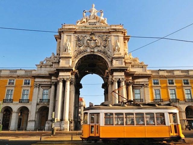 Praça do Comércio ou Terreiro do Paço em Lisboa