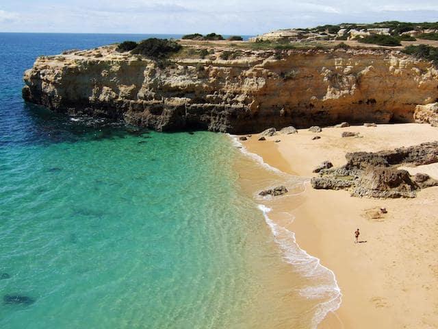 Praia Benagil no Algarve