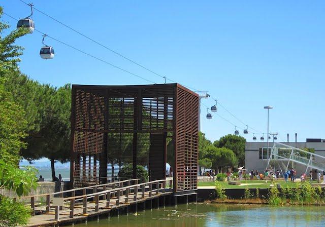 Jardins do Parque das Nações em Lisboa