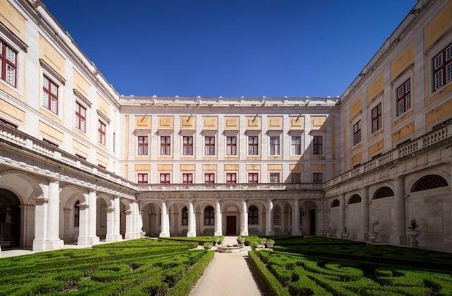 Palácio Nacional de Mafra em Portugal