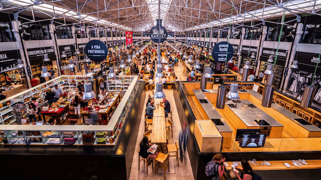 Postos e restaurantes do Mercado da Ribeira