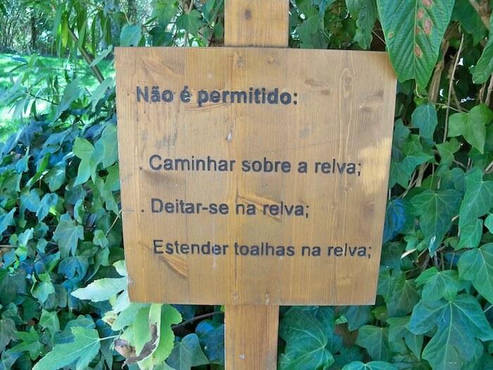 Exemplo de diferença entre português do Brasil e português europeu