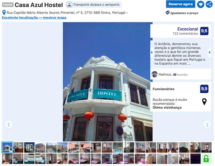 Casa Azul Hostel em Sintra