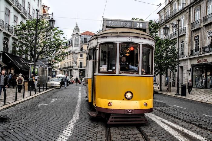 Elétrico 28E em Lisboa