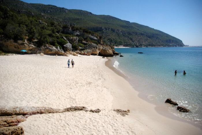 Areal da Praia dos Coelhos em Setúbal