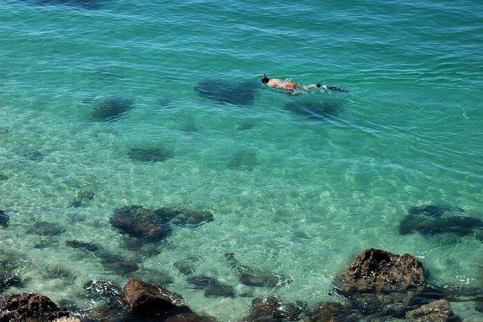 Mar da Praia de Galapinhos em Setúbal