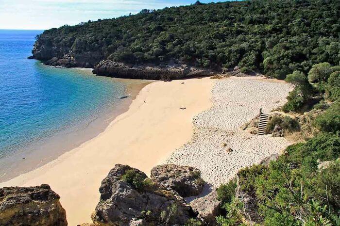 Vista da Praia dos Coelhos em Setúbal