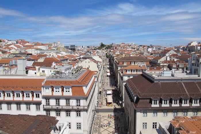 Vista da Rua Augusta em Lisboa