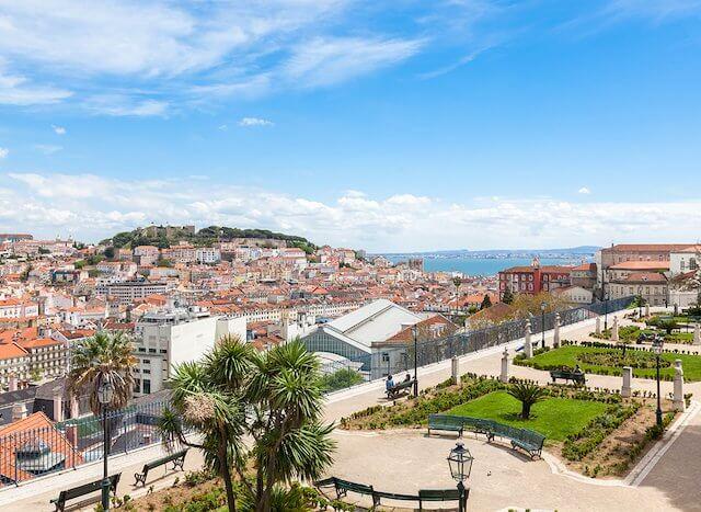Jardim de São Pedro de Alcântara em Lisboa