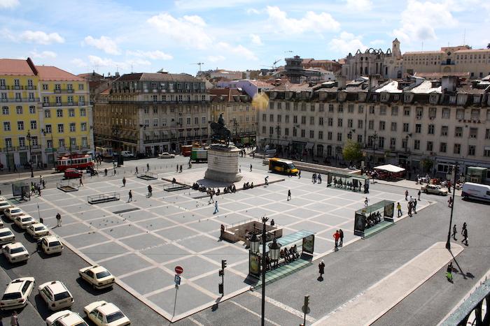 Roteiro em Lisboa - vista do centro da cidade