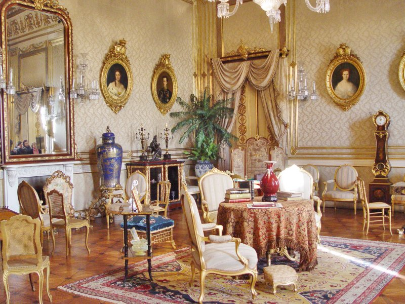Detalhes da decoração do Palácio Nacional da Ajuda em Lisboa
