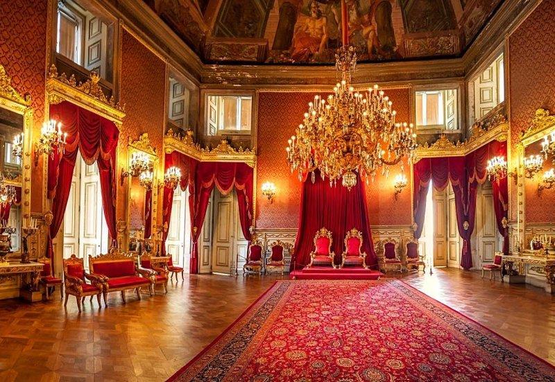 Interior do Palácio da Ajuda em Lisboa
